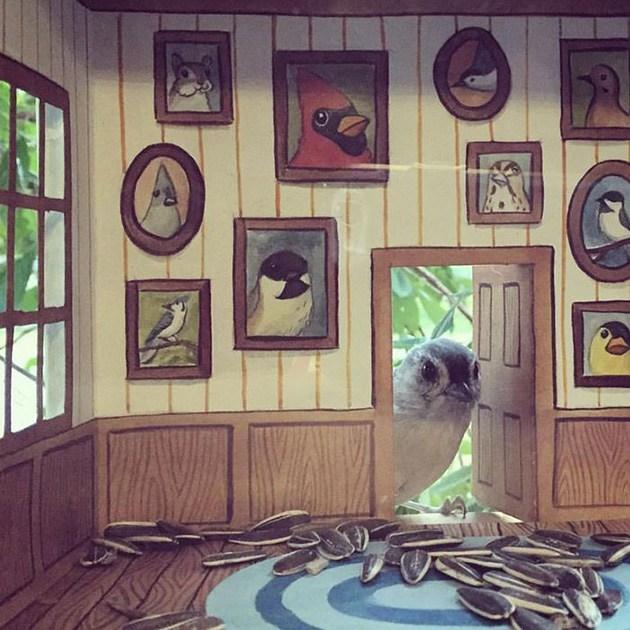кукольный домик для птиц