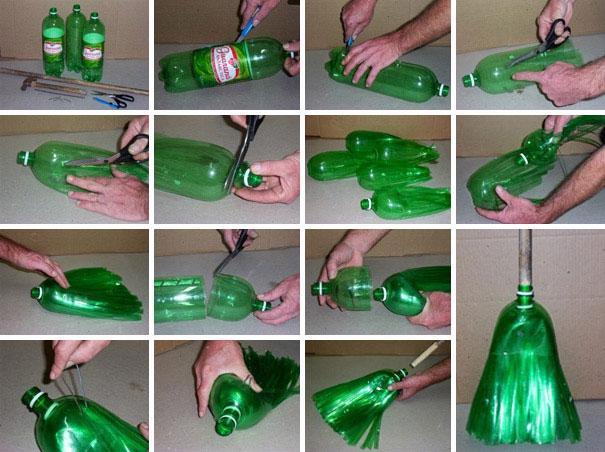 метла из пластиковой бутылки