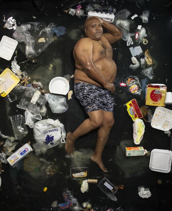человек и мусор