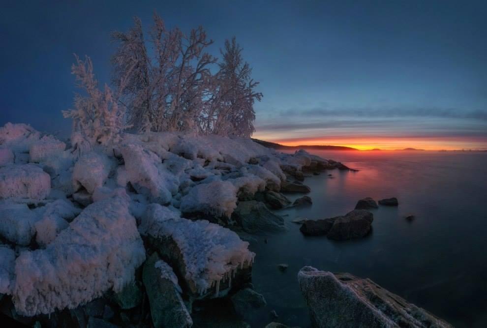 Озеро Имандра, Мурманская область.