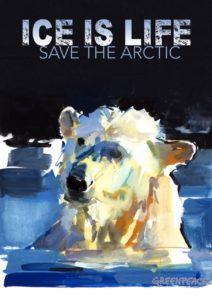 Экологический плакат Ice is life