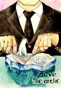 Экологический плакат Save the Arctic!
