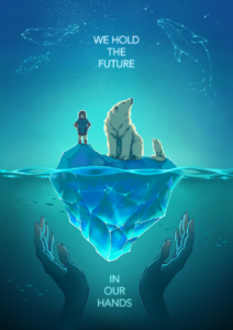Экологический плакат We hold the future in our hands