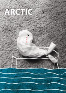 Экологический плакат Save the Arctic