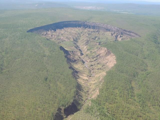 Батагайский разлом, вид сверху