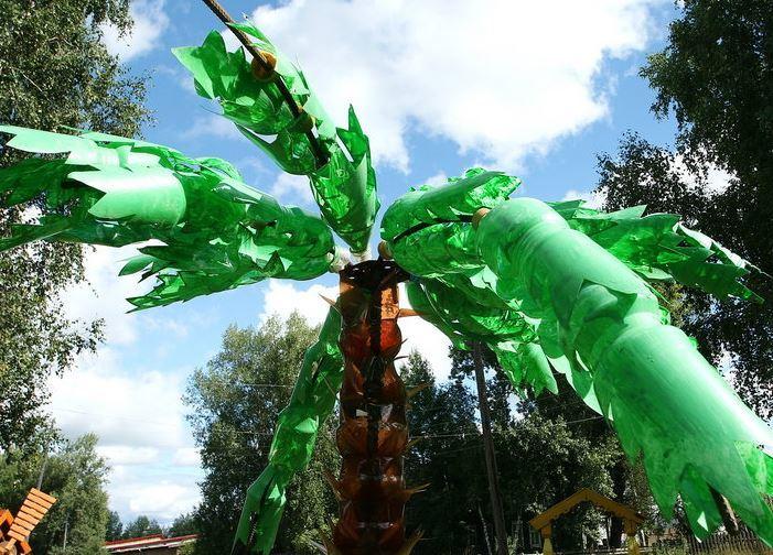 поделки из пластиковых бутылок для огорода