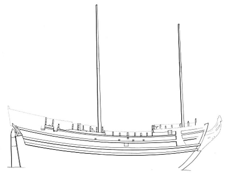 чертеж шведского корабля XVII века