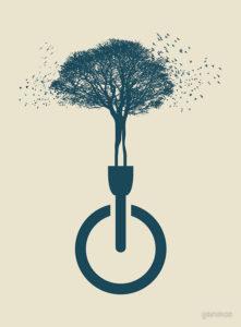 Экологический плакат Берегите деревья
