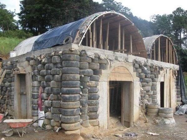 дом из шин