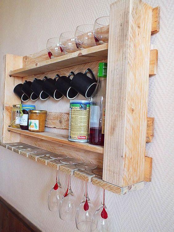 кухонный стелаж из палетов