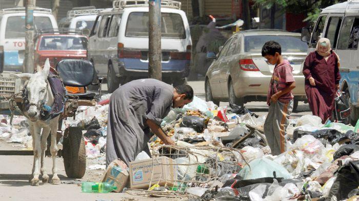 заббалинец собирает мусор